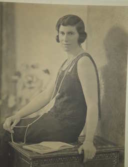Large Photograph 1920's Lady Seated