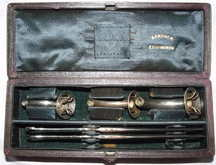 Set of Victorian Tracheotomy Instruments