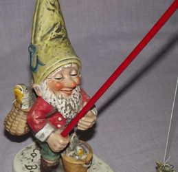 Goebel CO-BOY Figurine Petri the Fisherman Gnome (2)