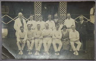 Postcard Photograph of Cricket Team 1920's
