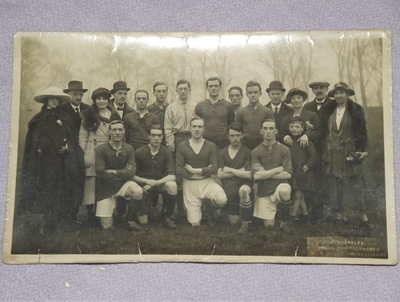 Postcard Photograph of Football Team.