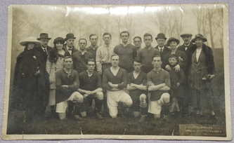 Postcard Photograph of Football Team
