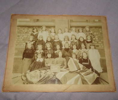 Mounted Photograph of Victorian Girls School, Liverpool.