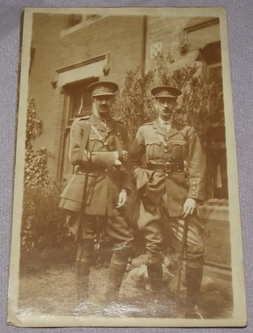 Postcard Photograph of Two WW1 Officers
