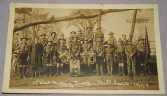 Postcard Photograph of 1st West Malling Scout Troop 1918