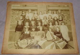 Mounted Photograph of Victorian Girls School Liverpool