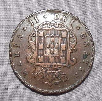 Lucernae XX Reis Copper Coin Maria II 1849 (2)