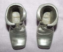 Pair of Pewter Boots (2)