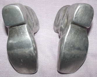 Pair of Pewter Boots (4)