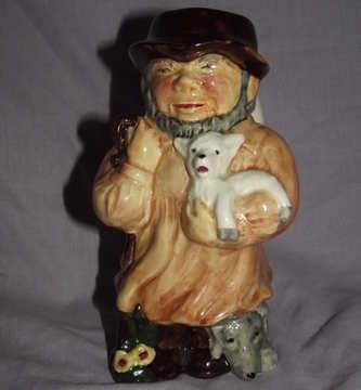 Roy Kirkham Staffordshire Character Toby Jug, Shepherd.