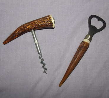 Horn Effect Bottle Opener and Cork Screw.