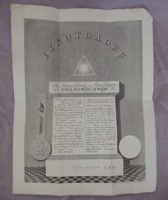 1939 Royal Arch Masonic Installation Certificate.