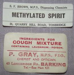Vintage Chemist Bottle Labels (2)