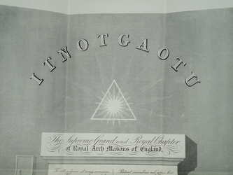 1939 Royal Arch Masonic Installation Certificate (3)
