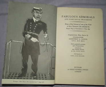Fabulous Admirals and Some Naval Fragments by Geoffrey L Lowis (4)