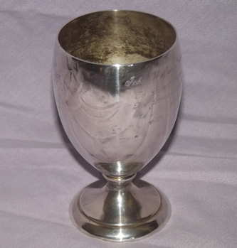 Silver Plated Masonic Goblet.