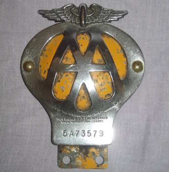 Vintage Aa Badge 1950 S