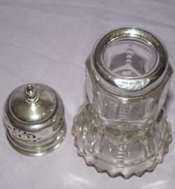 Antique Hallmarked Silver and Cut Glass Sugar Shaker 1912 (3)