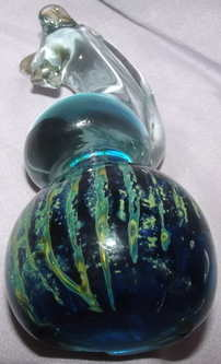 Mdina Glass Seahorse Paperweight (4)