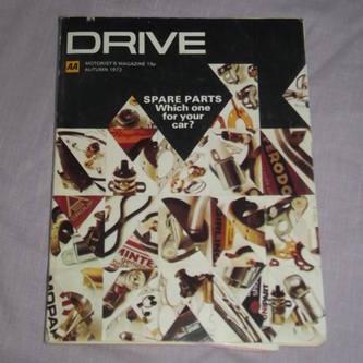 Drive Magazine On Spares Autumn 1972.