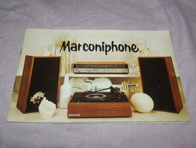 Marconiphone Advertising Booklet 1970's.