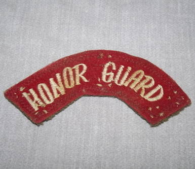 Honor Guard Shoulder Patch Title.