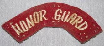 Honor Guard Shoulder Patch Title
