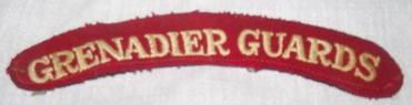 Grenadier Guards Shoulder Patch Title