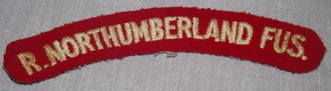 R Northumberland Fusiliers Shoulder Patch Title