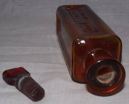 Victorian Amber Glass Boots Bottle (3)