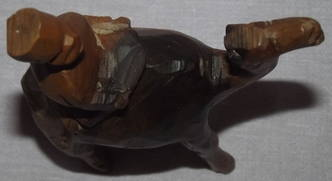 Carved Wooden Camel and Rider (5)