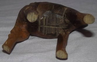 Carved Wooden Camel and Rider (6)