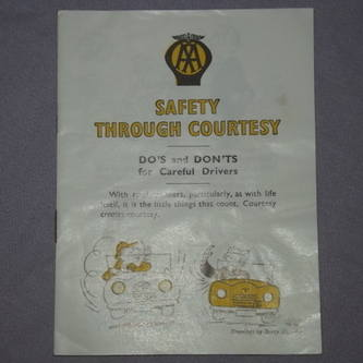 AA Safety Through Courtesy Booklet 1950s.