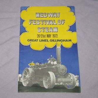 Medway Festival of Steam Programme 1972.