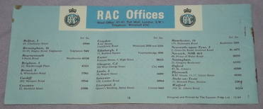 RAC Running In Booklet 1960s (6)