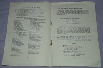WW2 Commemoration Service Programme (2)