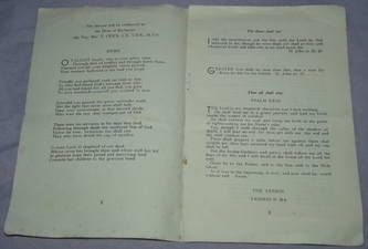 WW2 Commemoration Service Programme (4)