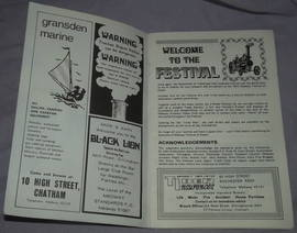 Medway Festival of Steam Programme 1972 (2)
