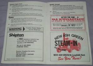 Medway Festival of Steam Programme 1972 (3)