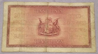 South Africa Ten Shilling Banknote 1941 (2)