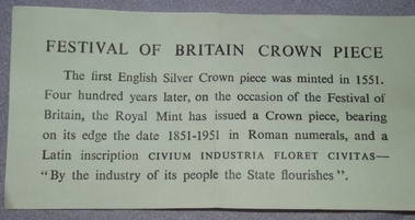 1951 Festival of Britain Crown (5)