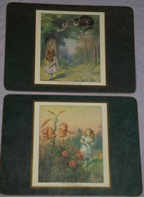 Alice in Wonderland set of Six Placemats and Coasters (2)