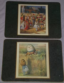 Alice in Wonderland set of Six Placemats and Coasters (3)