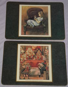 Alice in Wonderland set of Six Placemats and Coasters (4)