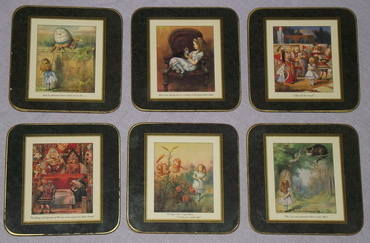 Alice in Wonderland set of Six Placemats and Coasters (5)