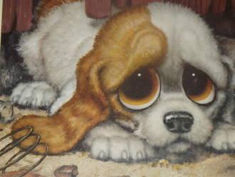 Pity Puppy by Gig Retro Kitsch Framed Print (2)