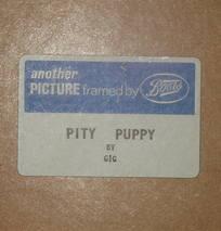 Pity Puppy by Gig Retro Kitsch Framed Print (5)