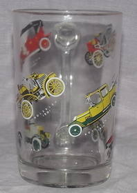 Half Pint Glass Decorated with Vintage Cars (2)