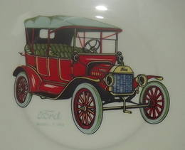Model T Ford Decorated Plate