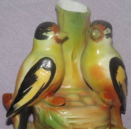 German Spill Vase of Birds on Nest (5)